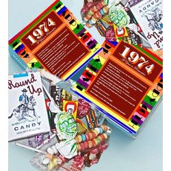 1974 40th Birthday Mini Retro Candy Gift Box