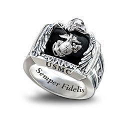 Sterling USMC Ring