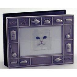 Personalized Pewter Finish Kitty Photo Album