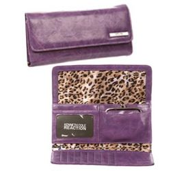Women's Large Wallet with Leopard Print