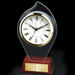Personalized Flame Shaped Glass Alarm Clock