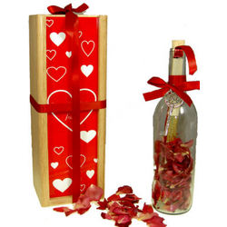 Deluxe Valentine's Day Message Bottle and Personalized Chest