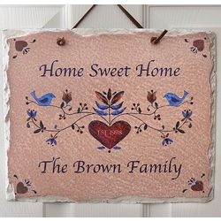 Home Sweet Home Personalized Slate Wall Sign