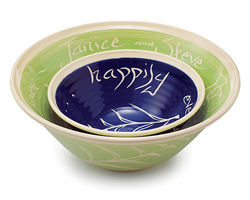 Personalized Wedding Nesting Bowls