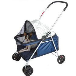 Small Folding Blue Pet Stroller