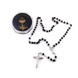 Boy's Communion Rosary with Keepsake Box