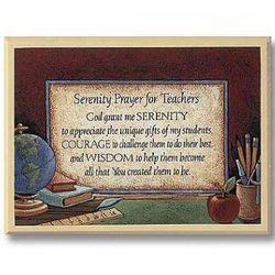 Teacher Prayer Plaque