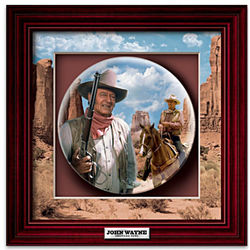 John Wayne American Hero Shadowbox Plate
