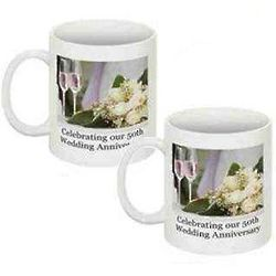 50th Wedding Anniversary Coffee Mugs
