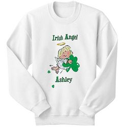 Personalized Irish Angel Youth Sweatshirt