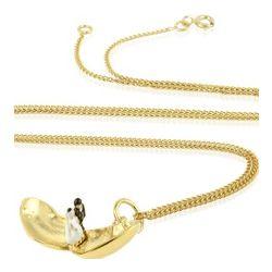 Wedding Heart Shape Silver Vermeil Necklace