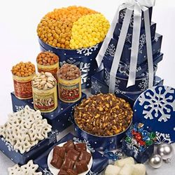 Snowy Night 7 Tier Tin and Gift Tower