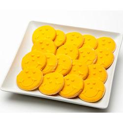 Golden Hanukkah Gelt Smiley Cookies