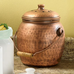 Copper-Plated Compost Crock