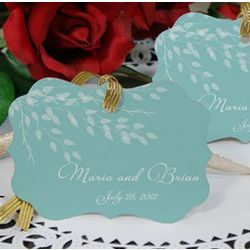 Personalized Leaves of Love Wedding Favor Ornament