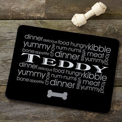 Doggie Delights Personalized Meal Mat