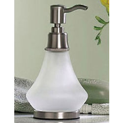Tiara Satin Nickel Accent Soap or Lotion Dispenser
