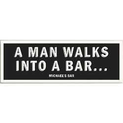 Personalized A Man Walks Into A Bar Canvas Print