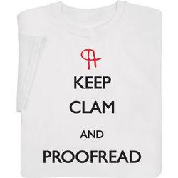 Keep Clam and Proofread Sweatshirt