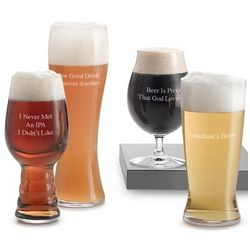 Engravable Craft Beer Tasting Glasses