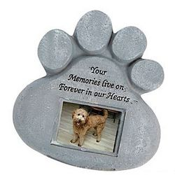 Pet Paw Memorial Stepping Stone