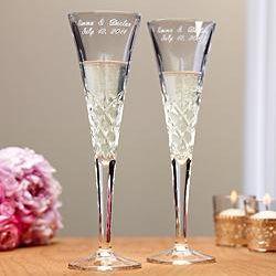 Personalized Romance Toasting Flutes