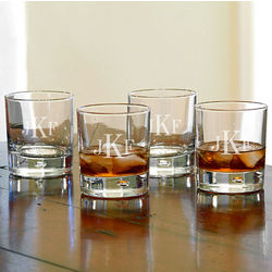 Bryne Classic Monogram Whiskey Glasses