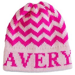 Baby or Toddler Personalized Chevron Hat