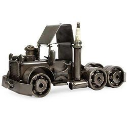 Rustic Semi Truck Cab Auto Part Sculpture