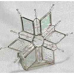Stained Glass Snowflake Votive