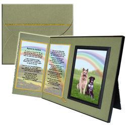 Beyond the Rainbow Poem Pet Memorial Keepsake Picture Frame