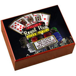 Personalized Poker Parlor Humidor