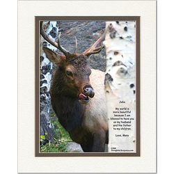 Husband or Boyfriend Poem Personalized Elk Print