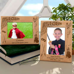 Personalized Superhero Wooden Picture Frame