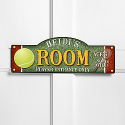 Personalized Tennis Anyone? Kid's Room Sign