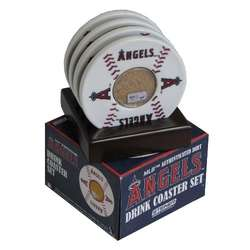 Los Angeles Angels Coasters with Game Used Dirt