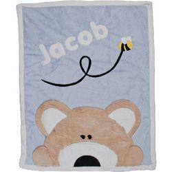 Personalized Crib Size Teddy Bear Blanket