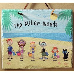 Personalized Beach Vacation Slate Wall Plaque
