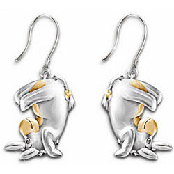 Disney Some Days Look Better Upside Down Eeyore Pierced Earrings