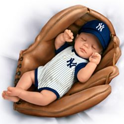 New York Yankees Baby Doll in Baseball Glove