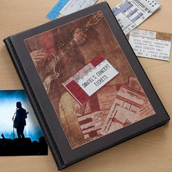 Personalized Concert Ticket Stub Scrapbook