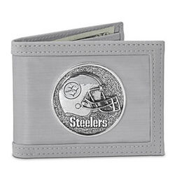 Pittsburgh Steelers Men's Stainless Steel Wallet
