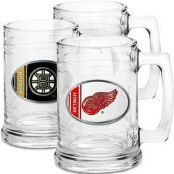 NHL Team Logo Glass Beer Mug