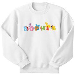 Personalized Sesame Street Characters Sweatshirt
