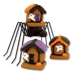 Mini Gingerbread Halloween Houses