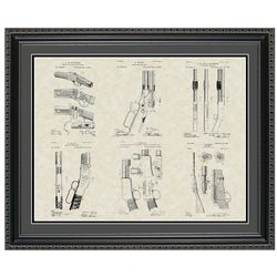 Winchester Firearms 20x24 Framed Patent Art