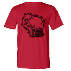 Badgers Don't Back Down Men's T-Shirt