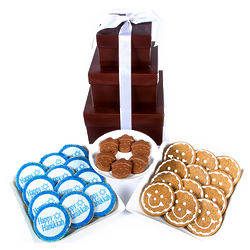 Hanukkah Smileys Tower of Treats