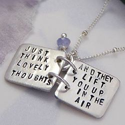 Peter Pan Quote Silver Storybook Necklace