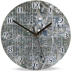 Personalized Hometown Map Clock